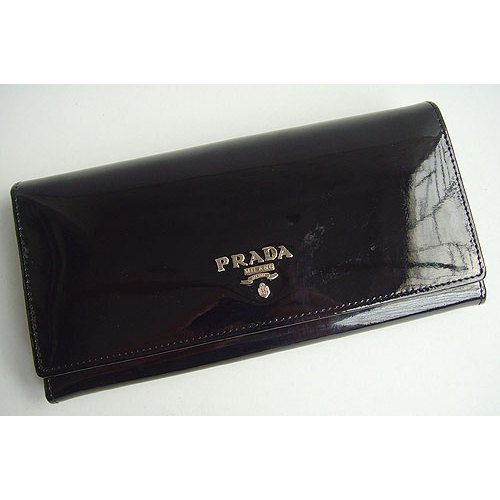 Prada Wallet_Black Leather_6605