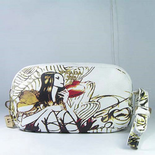Prada Fairies Clutch_White Leather_7805