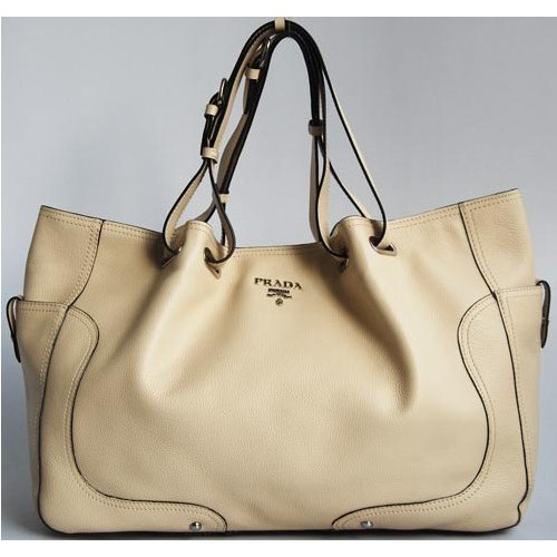 Prada Cervo Antic Tote Big_Cream Leather_7947
