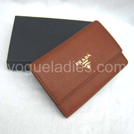 Prada Wallet_Earth Yellow Leather_1M0203