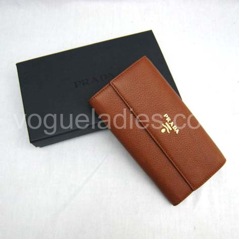 Prada Wallet_Earth Yellow Leather_1M0206
