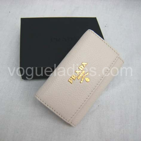 Prada Wallet_Offwhite Leather_1M0222