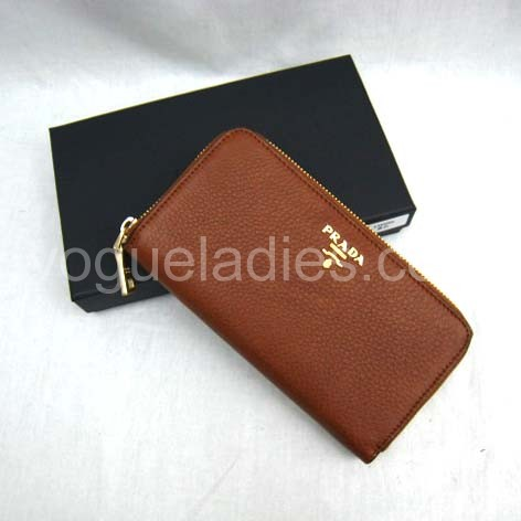 Prada Wallet_Earth Yellow Leather_1M0506