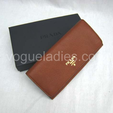 Prada Wallet_Earth Yellow Leather_1M1132