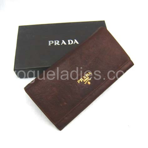 Prada Wallet_Light Coffee Leather_514