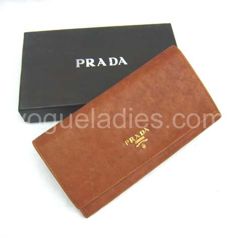 Prada Wallet_Earth Yellow Leather_514