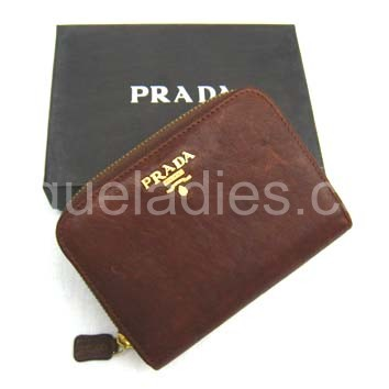 Prada Wallet_Light Coffee Leather_805