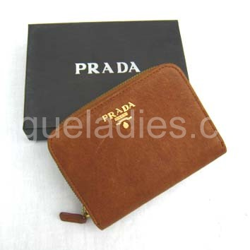 Prada Wallet_Earth Yellow Leather_805