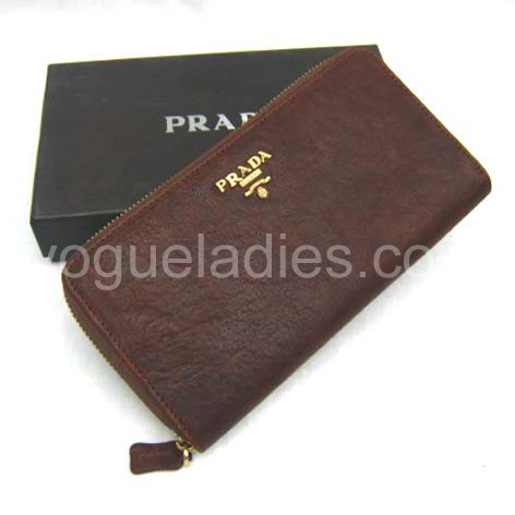 Prada Wallet_Light Coffee Leather_806