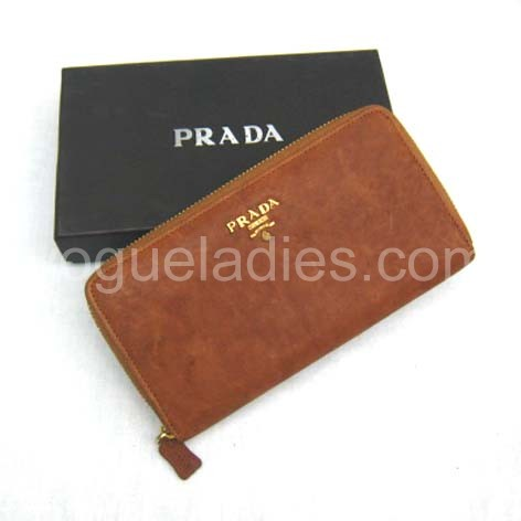 Prada Wallet_Earth Yellow Leather_806
