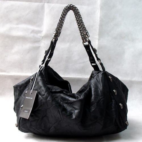 Thomaswylde Oxford Soft Duffel with Silver Hardware_Black_8008A